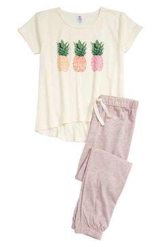 Tucker + Tate Pineapple - Zweiteiliger Pyjama (Little Girls & Big Girls) . Pajama Outfits, Lazy Outfits, Girl Outfits, Casual Outfits, Cute Outfits, Fashion Outfits, Gothic Fashion, Cute Pjs, Cute Pajamas