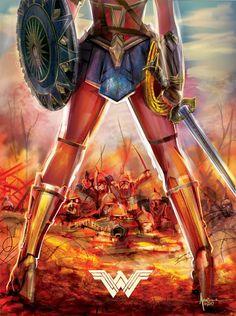 Feel the Power of Wonder Woman In this Killer Vector Art Print - http://www.entertainmentbuddha.com/feel-the-power-of-wonder-woman-in-this-killer-vector-art-print/