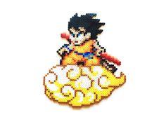 Dragon Ball Z Goku on Nimbus Perler Bead Sprite by ShowMeYourBits on Etsy, $18.00 - $20.00 #perler #perlerbeads #beadsprites #hamabeads #Goku #DBZ #Dragonball #Dragonballz #anime
