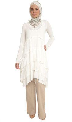 Alia Double Layer Ruffled Tunic Dress - Tunics and Tops - Artizara.com