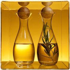 Öljy- ja viinietikkapullo 2 kpl, Oval Oak, Sagaform - Kelovee Oy