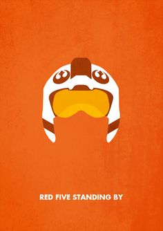 Red Five Standing By from Star Wars Minimalism by Keith Brogan