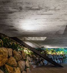 Rooftop infinity pool overlooks the Brazilian rainforest from Studio Jungle House Contemporary Architecture, Architecture Details, Tropical Architecture, Brazil Area, Brazilian Rainforest, Studio Mk27, Jungle House, Forest House, Exposed Concrete