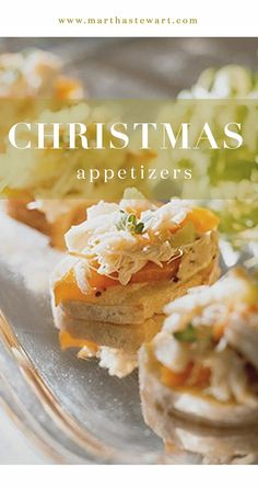 Christmas Appetizers | Martha Stewart Living - Kick off Christmas dinner with crowd-pleasing appetizers from 20 years of Martha Stewart Living.