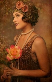 1920s bridesmaid