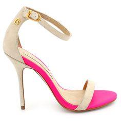Sandália Off White E Pink Carmen Steffens