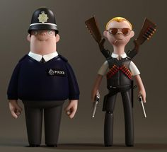 Cornetto Trilogy Figurines