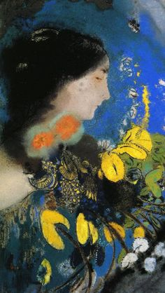 Ophelia detail, 1903, Private Collection  Odilon Redon  For more Odilon Redon see archive: HERE