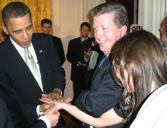 At the White House with Barrack Obama