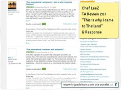"""Review 287 """"This Is why I Came to Thailand"""" and owner response thanking staff Clipped from www.tripadvisor.com"""