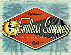 Free Endless Summer Metal Sign Size: x Postere: retro metal postersMaterial: Metal Vintage Summer, Vintage Surf, Vintage Tiki, Vintage Florida, Vintage Style, Tin Signs, Wall Signs, Surf Mar, Surf Logo