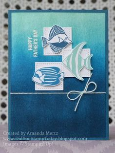 Fishy Father's Day - Stampin' Up! Seaside Shore