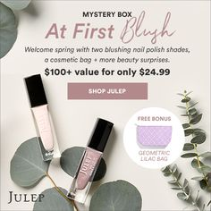 Embrace spring with Julep's pretty mystery box featuring two blushing nail polish shades, a cosmetic bag + more beauty surprises!