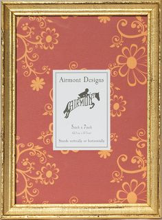 Airmont Designs 5 by 7-inch Vintage Gold and Red Wood Picture Frame *** Details can be found by clicking on the image. (This is an affiliate link and I receive a commission for the sales)