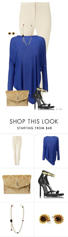 """""""Paint the town blue"""" by ksims-1 ❤ liked on Polyvore featuring Phase Eight, Hayward, Versace and Elizabeth Gage"""