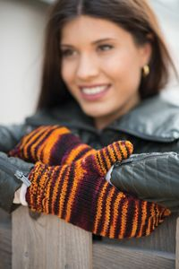 Flip Top Mitts from Love of Knitting magazine's Winter 2014 Issue - This splendid convertible design offers the convenience of fingerless mitts and the warmth of mittens in one clever pattern. The worsted weight wool yarn makes them especially cozy, and you won't have to worry about taking them off when you need something from your purse or wallet on a chilly morning.