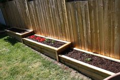 Raised Bed Flower Garden Design Ideas an Landscape Garden Edging Concrete Curbin… - Modern Back Gardens, Small Gardens, Outdoor Gardens, Tiered Garden, Wooden Garden, Garden Boxes, Garden Planters, Raised Vegetable Gardens, Vegetable Gardening