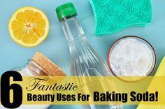 6 Fantastic Beauty Uses  For Baking Soda, By Barbie's Beauty Bits. #DIY #DIYBEAUTY