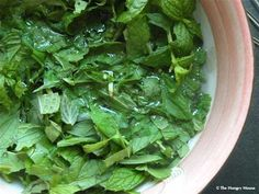 Mint Simple Syrup. So easy to make at home, and a great way to use up fresh mint. Makes a great addition to lemonade or sweet iced tea!