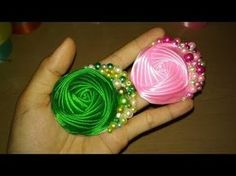 17) Tutorial kanzashi for beginner 3 | Bros | Brooch - YouTube