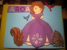 Cartel goma eva princesa sofía