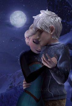 Jack Frost&Elsa Rise of the  Guardians&Frozen❄❄