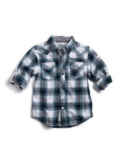 Akademiks Little Boys Plaid Shirt 3pc Short Set