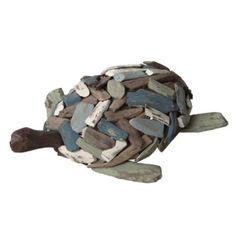 "Amazon.com: Coastal Driftwood Table Top Turtle Figures 12"": Home & Kitchen"