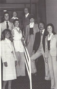 Continental Airlines Flight Attendant Uniforms Late 1970's.