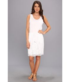 Spring is in the air! Celebrate, with this TWO by Vince Camuto™ S/L Drawstring Embroidered Dress....