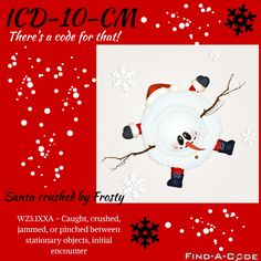 wheelchair bound icd 10 behind the chair jobs 7 best medical coding billing images coder codes there s a code for that santa crushed by frosty