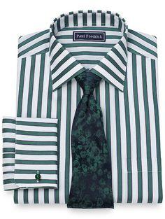 92e74e302 Slim Fit Shadow Stripe Dress Shirt Men Ties, Smart Styles, Stripe Dress,  Dress