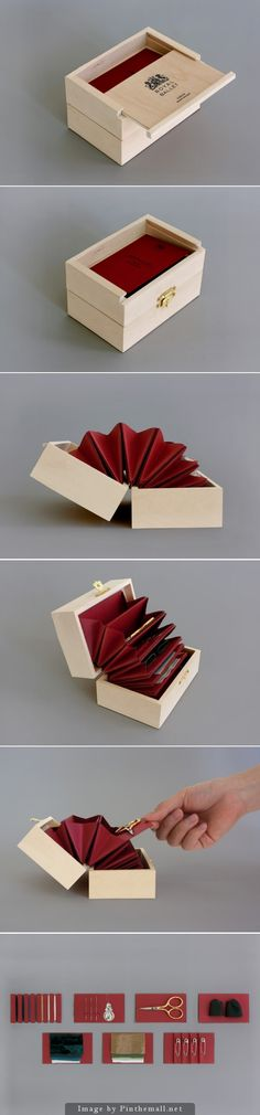 Ballerino #SewingKit (Student Project), Designer: Stacy Park - http://www.packagingoftheworld.com/2014/10/ballerino-sewing-kit-student-project.html