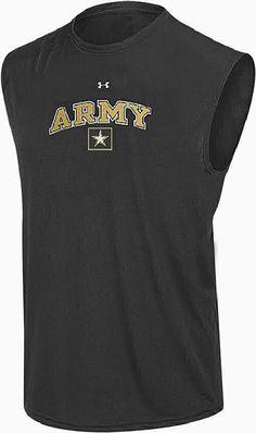 Army Black Knights Black Under Armour HeatGear NuTech Sleeveless Shirt 79a537fa5