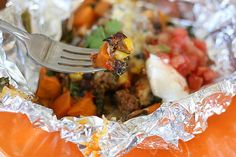 sweet potato taco foil packets. who wants to to TIN FOIL dinners with me when it gets warM??