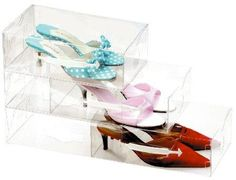 641d0b62aa6 5 x Stacking Shoe Drawers at STORE. 5 x Crystal clear stackable shoe  storage drawers