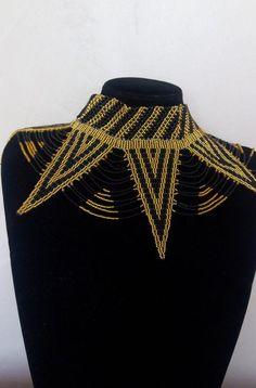 ON SALE African beaded collar necklace, Zulu necklace, Beaded shawl necklace, African jewelry, Masai African Necklace, African Beads, African Jewelry, Tribal Necklace, Collar Necklace, Beaded Collar, Zulu, Wedding Gifts, Women Jewelry