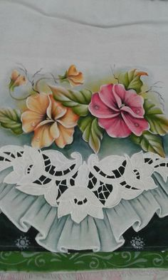 Lace Painting, Cutwork, Diy And Crafts, Stencils, Embroidery, Crochet, Tableware, Pasta, Dish Towels