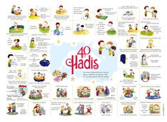 40 Hadith for Çocuklar İçin 40 Hadis 40 Hadith for Children - Ramadan Activities, Educational Activities, Activities For Kids, Hadith, Creative Teaching, Teaching Kids, Islam For Kids, Childbirth Education, Islamic Teachings