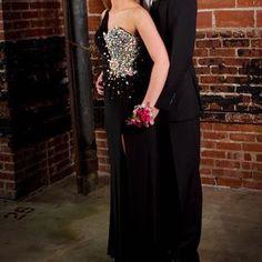 Night Moves Dresses - Black prom dress 1