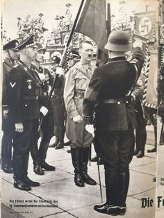 Consecration of the Standarte der SS Totenkopf Verbände, AH, Himmler and Theodor Eicke