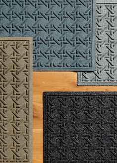 Our hard-working Water & Dirt Shield™ Veranda Door Mat tackles even the muddiest tracks. Made of rugged polypropylene, this super-strong mat protects floors by absorbing moisture and whisking mud from your pet's paws or your shoes. The low-profile design allows doors to clear mats and complies with ADA requirements without sacrificing the mat's superior absorbency.