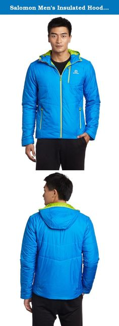 Salomon Men's Insulated Hoodie Jacket, Union Blue, Large. Salomon Apparel is based on the P.A.C.E approach; Progressive, Athletic, Comfort, Enginnering. Progressive in advanced design, constantly evolving. Athletic in enabling better sport oriented movement. Comfort in maximizing phyiscal well being and enjoyment. Engineering in art,skill and science applied in creating progressive apparel and gear.