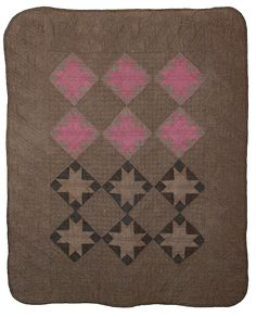 Beautiful Amish quilt #vintagequilts Love the pink and brown colors.