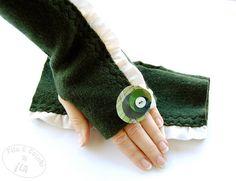 Guanti senza dita scaldamani in lana di Filoecoloridiila su Etsy, €27,00