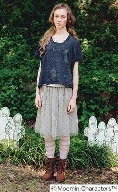 Felissimo Moomin Knitted top シロップ.|ムーミン透かし模様のゆるニットトップスの会|フェリシモ