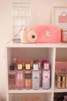 Makeup Rooms 82976 Pink Walk in Closet & Beauty Room Reveal Cute Room Ideas, Cute Room Decor, Diy Teen Room Decor, Room Ideas Bedroom, Bedroom Decor, Girl Bathroom Decor, Girl Bathrooms, Bathroom Pink, Entryway Decor
