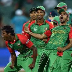 Bangladesh cricket team ! defeated england and in quarter final!  হালুম! !