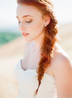 Wedding Makeup Redhead Summer Trendy Ideas Hochzeits Make-up Redhead Summer Trendy Ide Wedding Makeup Redhead, Redhead Makeup, Wedding Hair And Makeup, Bridal Makeup, Hair Makeup, Prom Makeup, Bridal Fishtail Braid, Bridal Braids, Fishtail Braids