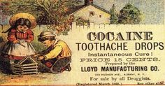 who would have thought that cocaine toothache drops would give an instantaneous cure? pretty funny vintage advertisement. #advertising